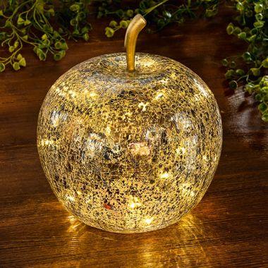 Glas-Apfel LED-beleuchtet