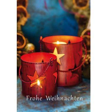 "Grußkarte ""Frohe Weihnachten""  Kerze"